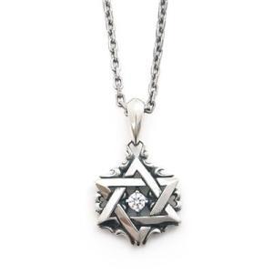 ネックレス シルバー 選べる誕生石 メンズ 五芒星 星 スター シルバー925 人気 プレゼント dagdart ダグダート|dagdart