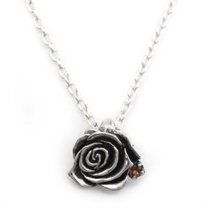 ネックレス シルバー 誕生石 レディース メンズ バラ 薔薇 ローズ 花 フラワー シルバー925 人気 プレゼント dagdart ダグダート|dagdart