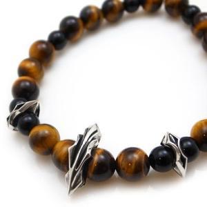 パワーストーン 数珠 天然石 ブレスレット シルバー タイガーアイ オニキス メンズ シルバー925 人気 プレゼント dagdart ダグダート|dagdart