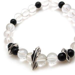 パワーストーン 数珠 天然石 ブレスレット シルバー 水晶 オニキス メンズ シルバー925 人気 プレゼント dagdart ダグダート|dagdart
