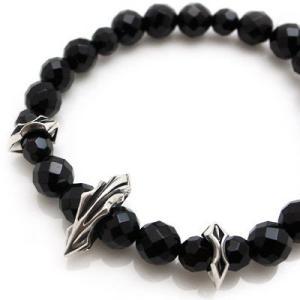 パワーストーン 数珠 天然石 ブレスレット シルバー オニキス メンズ シルバー925 人気 プレゼント dagdart ダグダート|dagdart