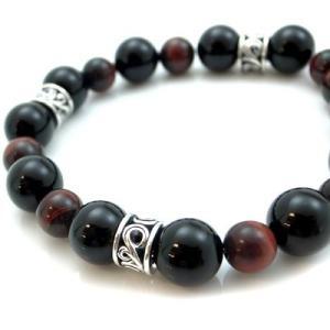 パワーストーン 数珠 天然石 ブレスレット シルバー オニキス タイガーアイ メンズ シルバー925 人気 プレゼント dagdart ダグダート|dagdart