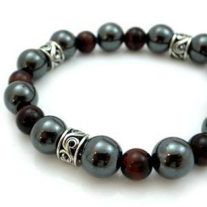 パワーストーン 数珠 天然石 ブレスレット シルバー ヘマタイト タイガーアイ メンズ シルバー925 人気 プレゼント dagdart ダグダート|dagdart