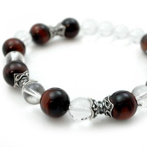 パワーストーン 数珠 天然石 ブレスレット シルバー タイガーアイ 水晶 メンズ シルバー925 人気 プレゼント dagdart ダグダート|dagdart