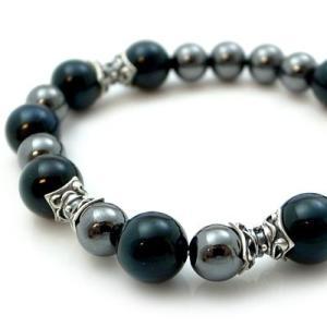 パワーストーン 数珠 天然石 ブレスレット シルバー タイガーアイ ヘマタイト メンズ シルバー925 人気 プレゼント dagdart ダグダート|dagdart