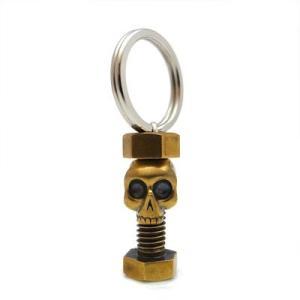 キーホルダー 真鍮 ブラス スカル ボルト ネジ 髑髏 工具 シルバー925 人気 プレゼント dagdart ダグダート|dagdart