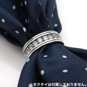 スカーフリング スーツ シルバー キュービックジルコニア メンズ シンプル パーティー シルバー925 人気 プレゼント dagdart ダグダート dagdart