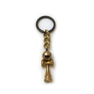 キーホルダー 真鍮 ブラス けん玉 おもちゃ 個性的 シルバー925 人気 プレゼント dagdart ダグダート|dagdart