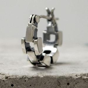 [Glass]フープタイプ シルバーピアスDAgDART DP-080|dagdart