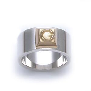 [Glass]シルバー&ゴールドリング/指輪/DAgDART・ダグダート DR-172|dagdart