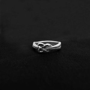 刻印OK! Knot 絆 結び×シルバーリング/指輪(レディス) DAgDART/ダグダート DR-358|dagdart