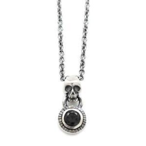 [Penny Black skull parade!]スカル ブラックキュービック  シルバーペンダント DT-436BCZ|dagdart