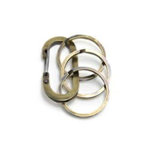 完全オリジナルハンドメイド  カラビナ キーホルダー メンズ レディース 真鍮  ブランド「Lifestyle Design Lab」LLK-001br3|dagdart