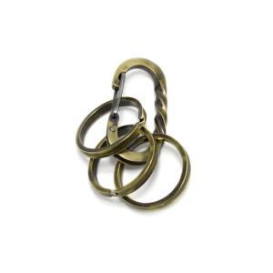 完全オリジナルハンドメイド  カラビナ キーホルダー メンズ レディース 真鍮  ブランド 「Lifestyle Design Lab」LLK-002br3|dagdart