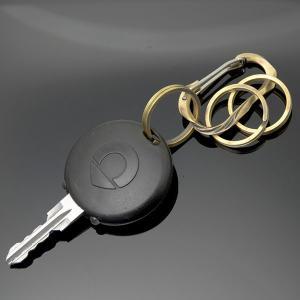 完全オリジナルハンドメイド  カラビナ キーホルダー メンズ レディース 真鍮 ブランド「Lifestyle Design Lab」LLK-003br|dagdart