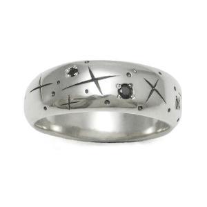 PennyBlack  ブラックキュービック シルバーリング  メンズ ストーン 指輪 星 シンプル  P-016 dagdart