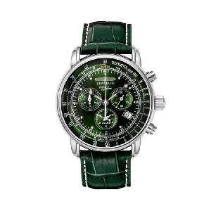 【クーポン利用で10%OFF】100周年記念 緑 メタリック 8680-4 ZEPPELIN ツェッペリン メンズ 腕時計 国内正規品 送料無料|dahdah