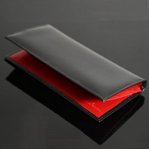[レイモンド バレンチノ] Raimond Valentino メンズ長財布 (ブラック+レッド) dahlia-s