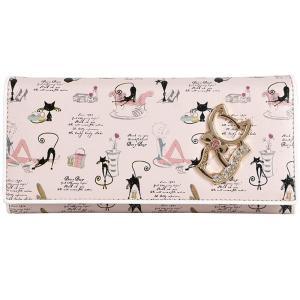 【フェアーフェアリー】 Fair Fairy レディース財布 かわいい猫の財布 二つ折り 長財布 L字ファスナー sa-be-120023 dahlia-s