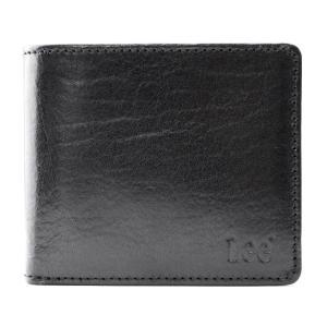 [0520234] ブラック [リー]LEE Book型 二つ折り財布 (イタリアンレザー) dahlia-s