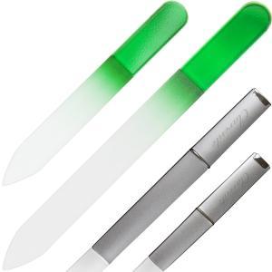 Clarente 爪やすり ガラス製 ケース付 つめやすり甘皮 ケア 大小2個セット|dahlia-s