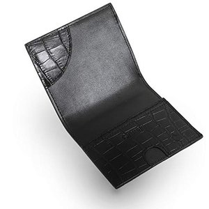 [ゲーネン] 薄い 小さい 軽い 二つ折り 財布 メンズ 小銭入れ付き (ブラック)