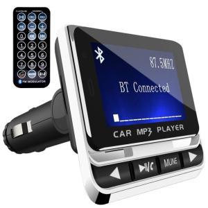 FMトランスミッター TC Bluetooth ワイヤレス 発信機 無線 レシーバー 高音質 TFカード&USBメモリー対応 急速充電USBポート搭載 ハンズフリー通話 日本語説明書|dahlia-s
