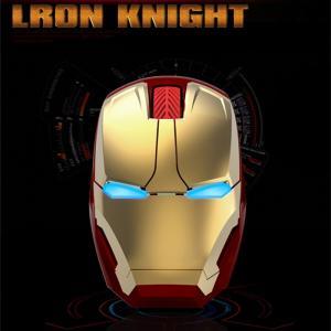 Iron Man光学式無線マウス アイアンマンLEDライト大人気個性ハードワイヤレス光学式マウス