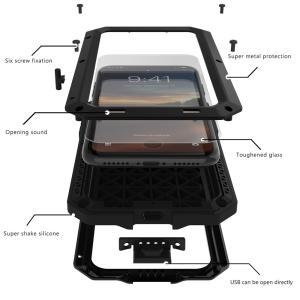 最強金属 iPhone X/iPhoneXs メタルケース  超人気デザイン、メタル合金最強カバー ...