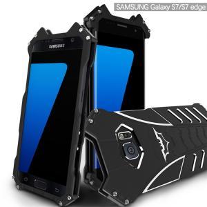 バットマン GALAXY S7 edge ケース ダーツスタンド アルミバンパーカバー耐衝撃超頑丈最...