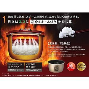 日立 炊飯器 圧力IHスチーム 打込み鉄釜 ふっくら御膳 5.5合 RZ-YW3000M R|dai-king
