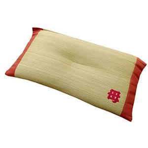 イケヒコ 枕 まくら い草枕 消臭 ピロー 国産 『おふくろの枕 くぼみ平枕』 約50×30cm 中...