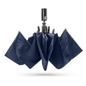 E-PRANCE 折り畳み傘 ワンタッチ自動開閉 210T高強度グラスファイバー 耐風撥水 軽量楽々 収納ポーチ付き (1番ブルー) プレゼント ギ|dai-king