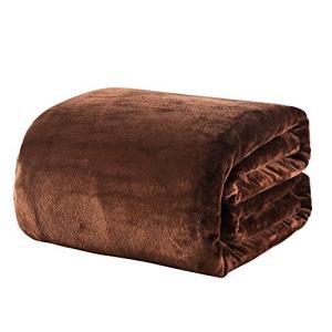毛布 シングル あったか マイクロファイバー 軽い 暖かい柔らかい ふわふわ 洗える フランネル 毛布 シングル・140×200cm, ブラウン の商品画像 ナビ
