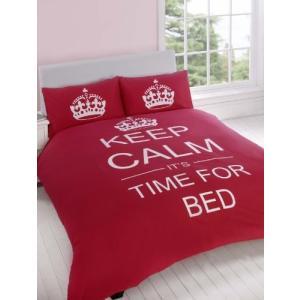 【英国雑貨】KEEP CALM Its Time For Bed 嬉しいリバーシブル クラウン柄 ベ...