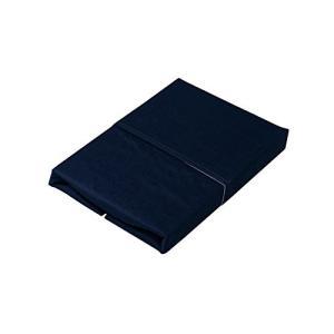 アイリスオーヤマ ボックスシーツ 綿100% ダブル 140×200×25cm ネイビー CMB-D