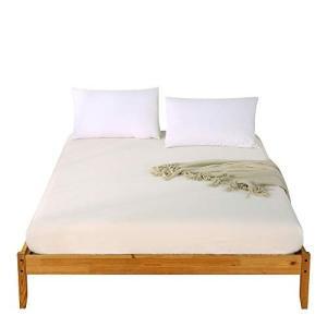 ボックスシーツ 洗いざらし 綿100% ベッドシーツ マットレスカバー オーガニックコットン 肌触りの良い シーツ マチ部分約30cm ベッドカバー|dai-king