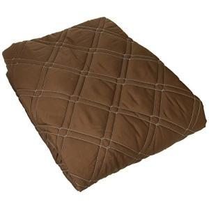 (セシール)cecile ベッドシーツ 「丈夫でしっかり」綿ツイルパッド一体型ベッドシーツ コーヒー...