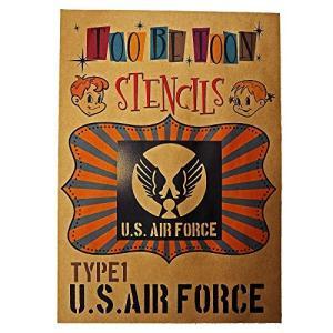 アメリカ軍エンブレムロゴステンシルシート (US AIR FORCE(type1))|dai-king