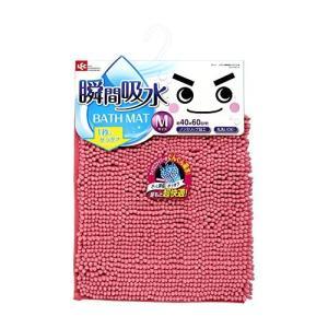 レック サラサラ 瞬間吸水 バスマット (M ・60×40cm) ピンク