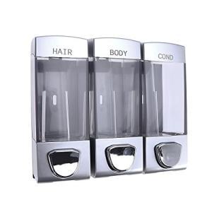 OUNONA ソープディスペンサー 壁掛け式 シャンプーディスペンサー 手動 プラスチック ウォールマウントポンプ シャワー 風呂 キッチン おしゃ|dai-king
