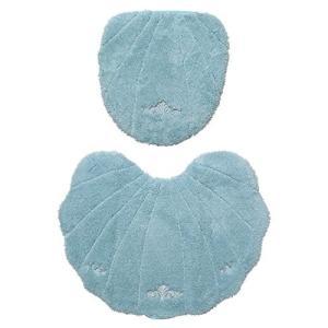 ルソンドラメール トイレマット・洗浄暖房型フタカバー 2点セット ブルー|dai-king