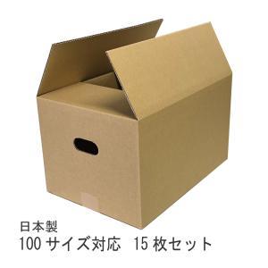 【個人宅宛は別途送料】ダンボール箱 100サイズ 15枚 ダンボール 段ボール 引越し