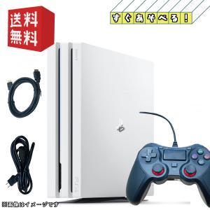 【中古】PlayStation 4 Pro グレイシャー・ホワイト 1TB (CUH-7100BB02)【すぐ遊べるセット】|daichugame