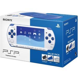 PSP「プレイステーション・ポータブル」バリューパック ホワイト/ブルー(PSPJ-30018)【充...