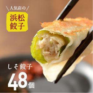 【人気店の浜松餃子】しその香りが美味しいヘルシーしそ餃子【48個】ご家庭用 浜松ぎょうざ