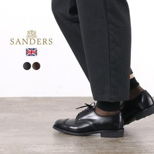 SANDERS(サンダース) #1128 ミリタリー ダービーシューズ / レザーシューズ レザーブ...