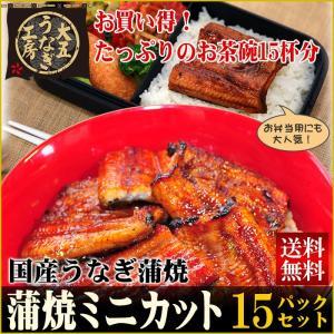 国産うなぎ蒲焼ミニカット 15パックセット...