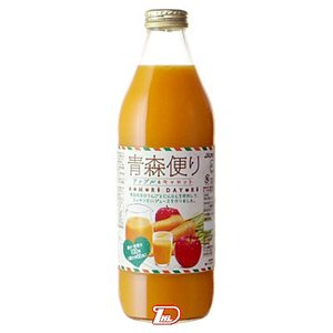 ヤエス青森便り アップル&キャロット JAアオレン 1L瓶(1000ml) 6本入り