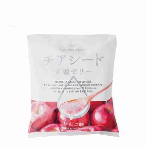 チアシード 蒟蒻ゼリー りんご味 若翔 1袋(10個入り)...